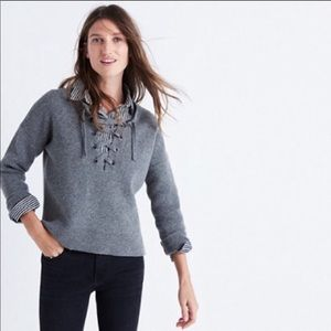 Madewell lace up wool pullover
